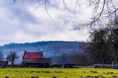 Een landbouwbedrijf dichtbij Abdij Rievauxl Stock Foto