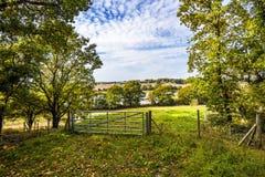 Een landbouwbedrijfgateway dichtbij Crowhurst in Oost-Sussex, Engeland royalty-vrije stock fotografie