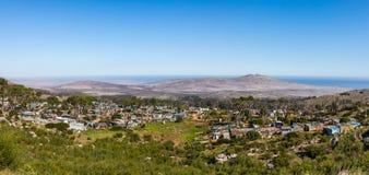 Een landelijk dorp op het kaapschiereiland stock afbeeldingen