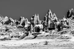 Een landschap in Cappadocia, Turkije stock afbeeldingen