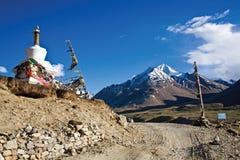 Een landschap dichtbij Rangdum-klooster, Zanskar-Vallei, Ladakh, Jammu en Kashmir, India Stock Afbeelding