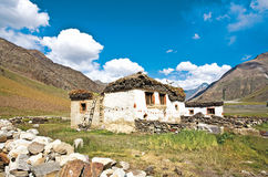 Een landschap dichtbij Rangdum op de manier aan Zanskar, Ladakh, Jammu en Kashmir, India Royalty-vrije Stock Foto