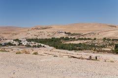 Een landschap in Jordanië, het Midden-Oosten. Royalty-vrije Stock Foto