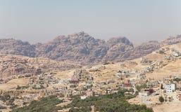 Een landschap in Jordanië, het Midden-Oosten. Royalty-vrije Stock Foto's