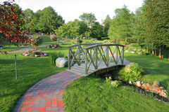 Een landschap in park Royalty-vrije Stock Foto