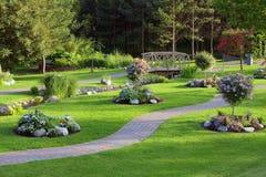Een landschap in park Royalty-vrije Stock Afbeeldingen
