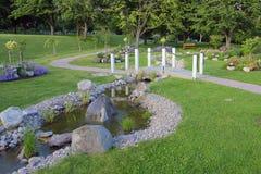Een landschap in park Royalty-vrije Stock Fotografie