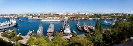 Een landschap van de baai (Sebastopol, de Oekraïne) royalty-vrije stock foto's