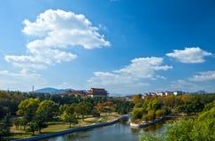 Een landschap van een Chinese stad Royalty-vrije Stock Fotografie
