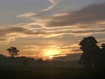 Een landschap van ochtendhemel Stock Foto