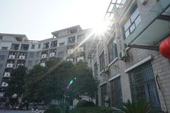 Een landschap van Zhejiang-Universiteit stock foto's