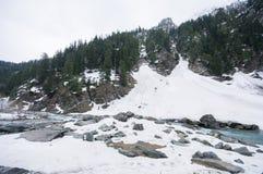 Een landschapsmening tijdens het gaan naar Sonoma-vallei, Kashmir royalty-vrije stock foto