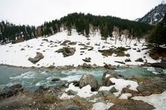 Een landschapsmening tijdens het gaan naar Sonoma-vallei, Kashmir stock foto