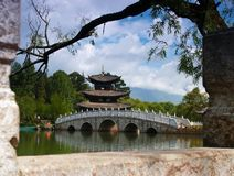 Een landschapspark in Lijiang China Stock Foto
