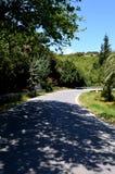Een landweg in Kreta Stock Foto