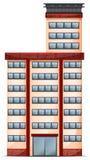 Een lang commercieel gebouw royalty-vrije illustratie