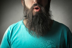 Een lange baard royalty-vrije stock foto's
