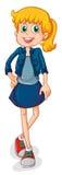 Een lange jonge vrouw vector illustratie
