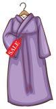 Een lavendel Aziatische kleding voor verkoop Stock Afbeelding