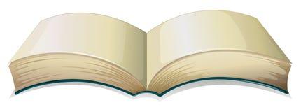 Een leeg dik boek Stock Afbeeldingen