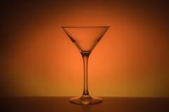 Een leeg glas voor cocktail Royalty-vrije Stock Afbeelding