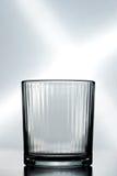 Een leeg kristalglas Stock Foto