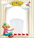Een leeg malplaatje met een clown Stock Fotografie