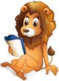 Een leeuw die een boek lezen vector illustratie