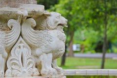 Een leeuw met vleugels Stock Afbeeldingen