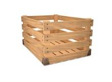 Een lege houten doos. Royalty-vrije Stock Afbeeldingen