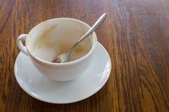 Een lege Kop van de Koffie Royalty-vrije Stock Foto's