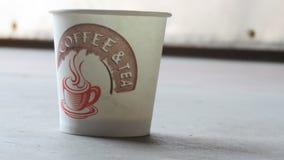 Een lege kop van koffie royalty-vrije stock afbeelding