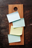 Een Lege Receptenkaarten (of het Winkelen Lijst) Stock Foto