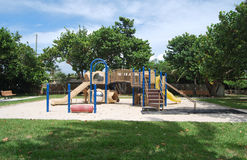 Een lege Tropische speelplaats 3 Royalty-vrije Stock Afbeelding