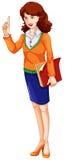 Een leraar stock illustratie