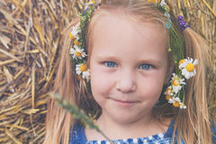 Een leuk 3 jaar oud meisje met CH Royalty-vrije Stock Afbeelding