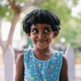 Een Leuk Meisje van Sri Lankan stock foto's