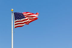 Een levendige wind die de V.S. blazen markeert royalty-vrije stock foto's
