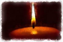 Een licht in dark stock afbeeldingen