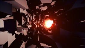 Een licht in het eind van een tunnel, 4K videoachtergrond stock illustratie