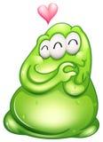 Een in-liefde greenslime monster Stock Afbeeldingen