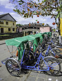 Cyclo riksja's in hoi-, Vietnam Stock Foto's