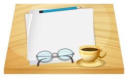 Een lijst met lege stukken documenten Stock Afbeeldingen
