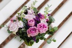 Een lilac huwelijksbloemen Stock Fotografie