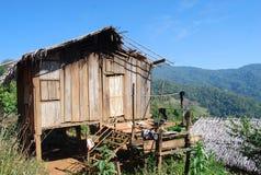 Een lokaal huis op de berg van Thailand en Zuidoost-Azië in normale mening beter voor toerist en het reizen Stock Fotografie