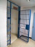 De cel van de gevangenis Stock Foto's
