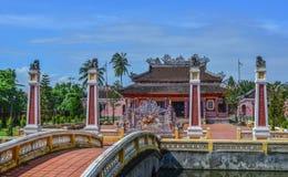 Een lokale tempel in Hoi An Old Town stock fotografie