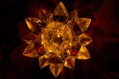 Een lotusbloem en een kandelaar Royalty-vrije Stock Afbeeldingen