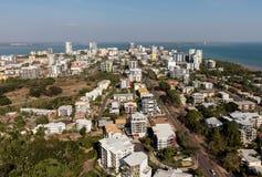 Een luchtfoto van Darwin, de hoofdstad van het Noordelijke Grondgebied van Australië royalty-vrije stock afbeelding