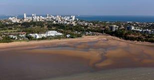 Een luchtfoto van Darwin, de hoofdstad van het Noordelijke Grondgebied van Australië royalty-vrije stock foto